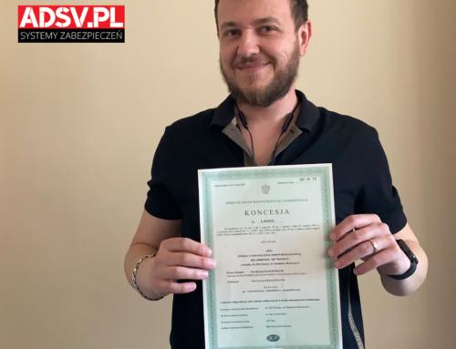 Koncesja MSWiA dla ADSV SP. Z O. O.
